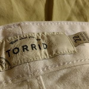 Torrid white denim shorts